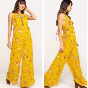 NWT Free People Georgia Printed Jumpsuit Size M